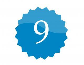 9 badge